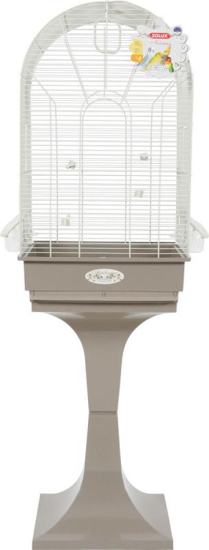 Cage Arabesque Noémie avec pied 50cm grise
