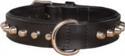 Collier bouledogue noir 40cm