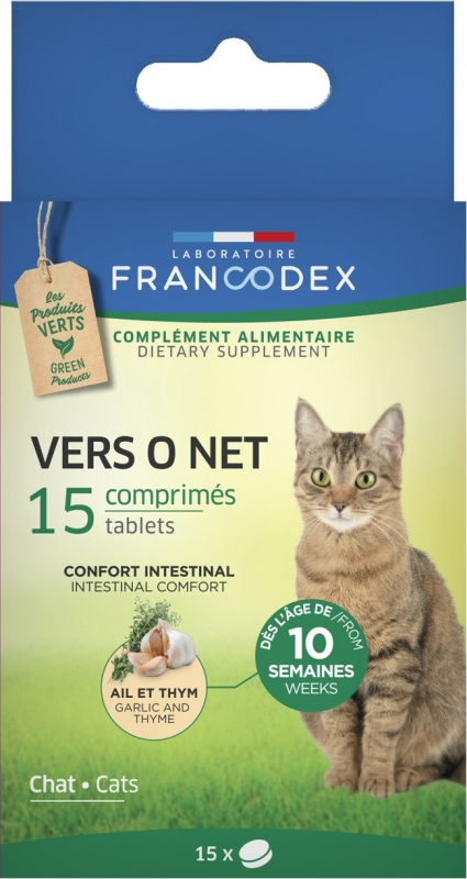 Francodex Vers O Net pour chaton et chat en comprimés