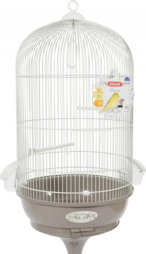 Cage Amarante avec pied, coloris gris taupe