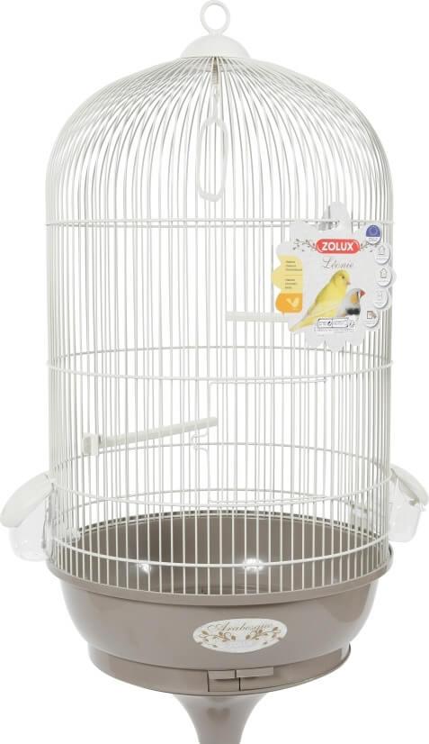 Cage Amarante avec pied, coloris gris taupe_1
