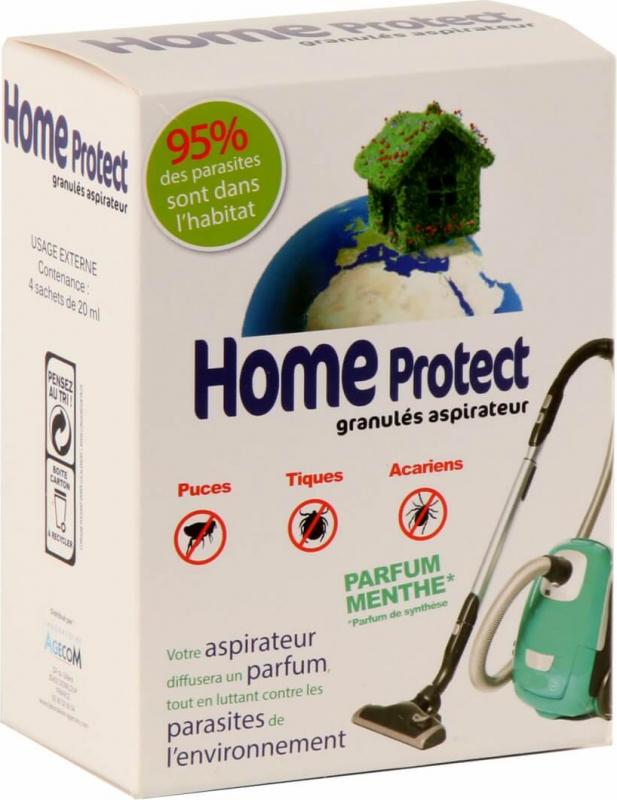 Home Protect granulés pour aspirateur à la menthe
