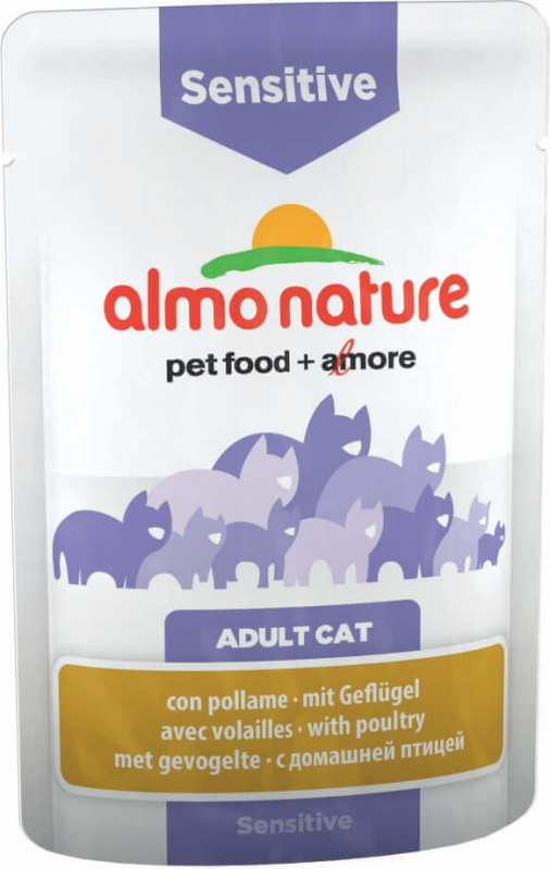 Paté ALMO NATURE PFC Sensitive para gato adulto Sensible - 2 sabores diferentes