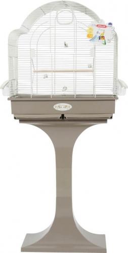 Cage MORGANE avec pied coloris gris taupe