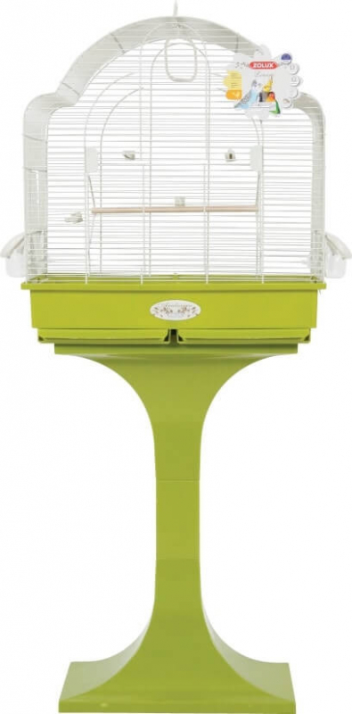 Cage MORGANE avec pied coloris vert olive