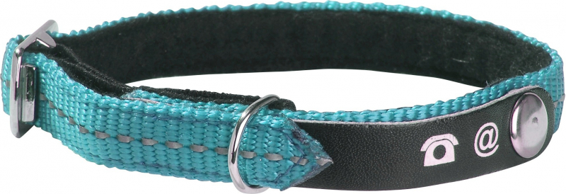 Collier Chat porte adresse Lost Fluo