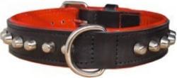 Collier bouledogue noir/rouge 50cm