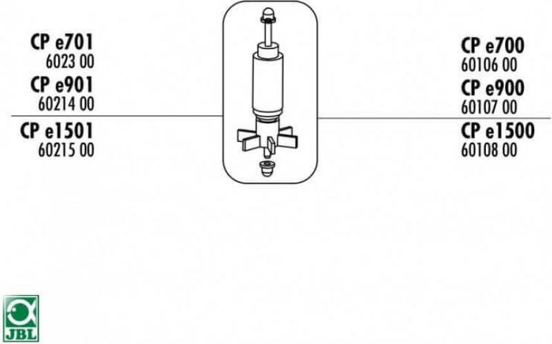 Rotor pour JBL CristalProfi e1501 et e1502