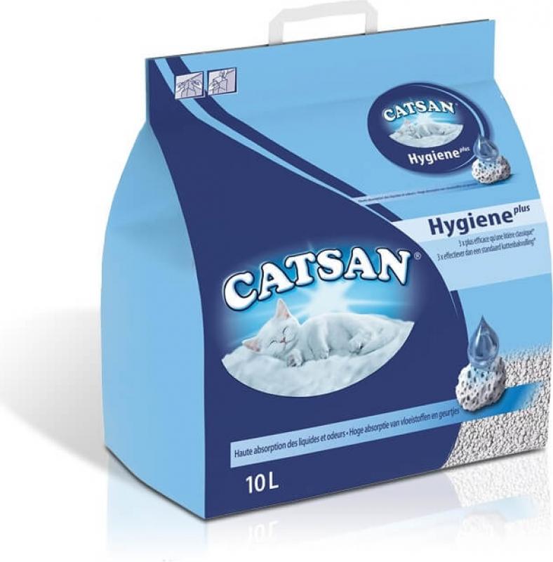 Litière minérale CATSAN Hygiène Plus 20L/10kg