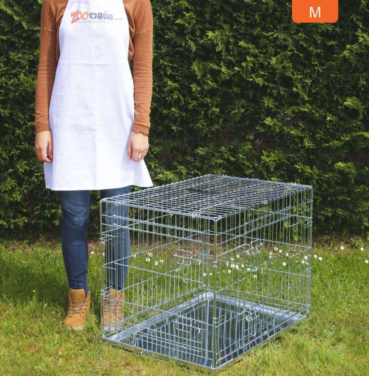 Cage de transport pour chien ZOLIA XENA avec fond en métal_5