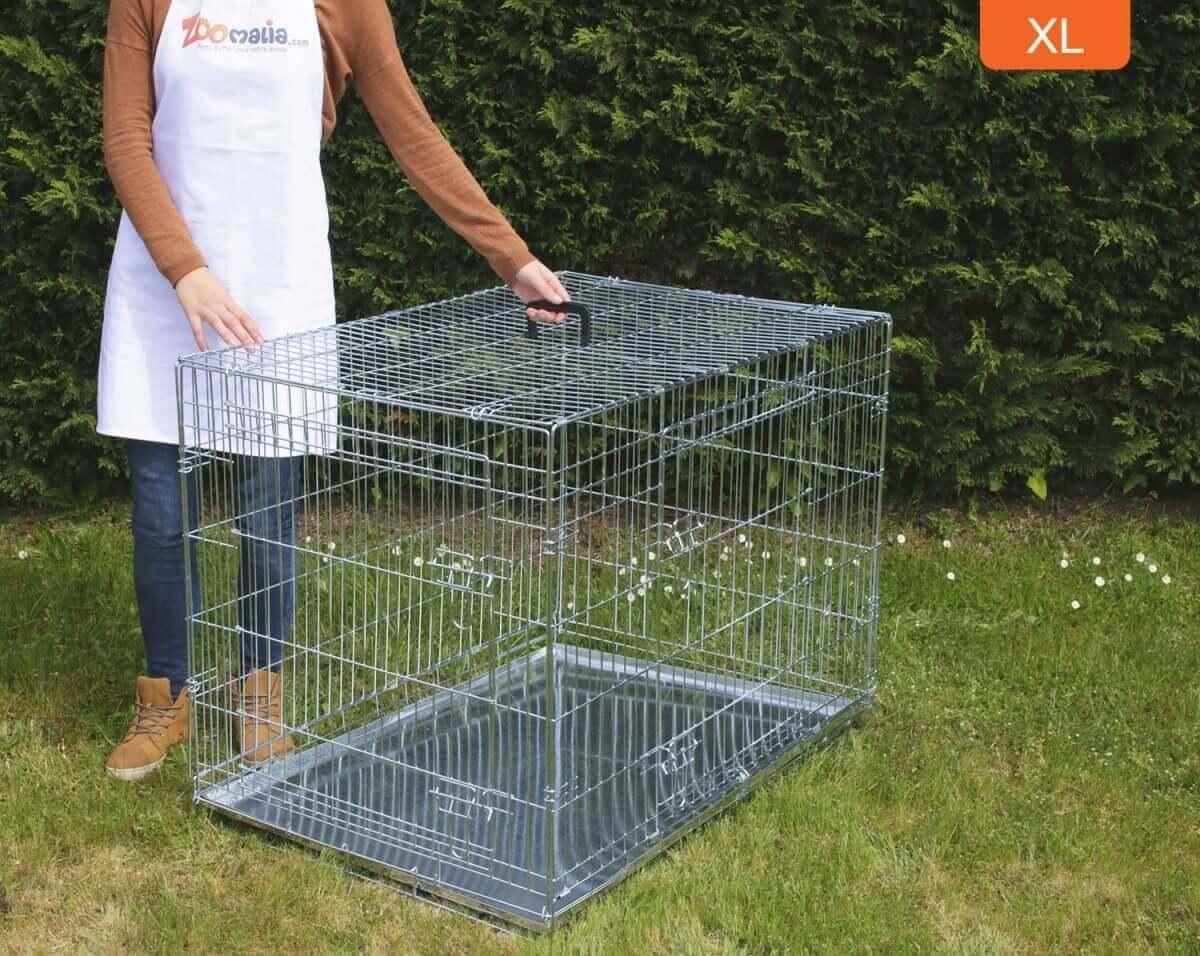Cage de transport pour chien ZOLIA XENA avec fond en métal_7