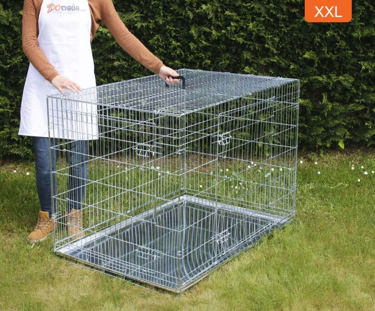 cage de transport pour chien zolia xena avec fond en m tal cage de transport. Black Bedroom Furniture Sets. Home Design Ideas