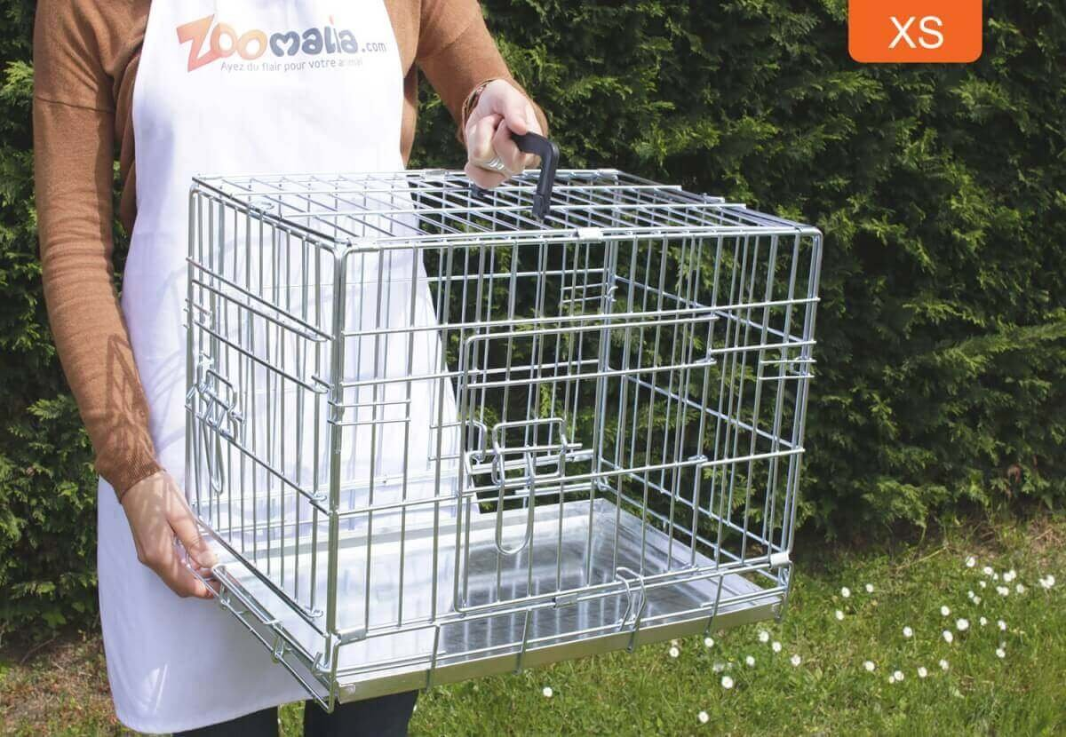 Cage de transport pour chien ZOLIA XENA avec fond en métal_3