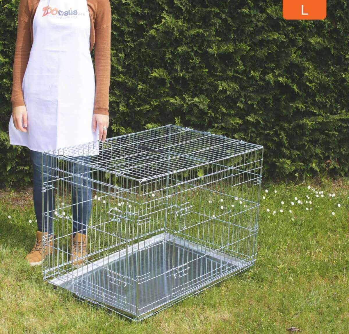 Cage de transport pour chien ZOLIA XENA avec fond en métal_6