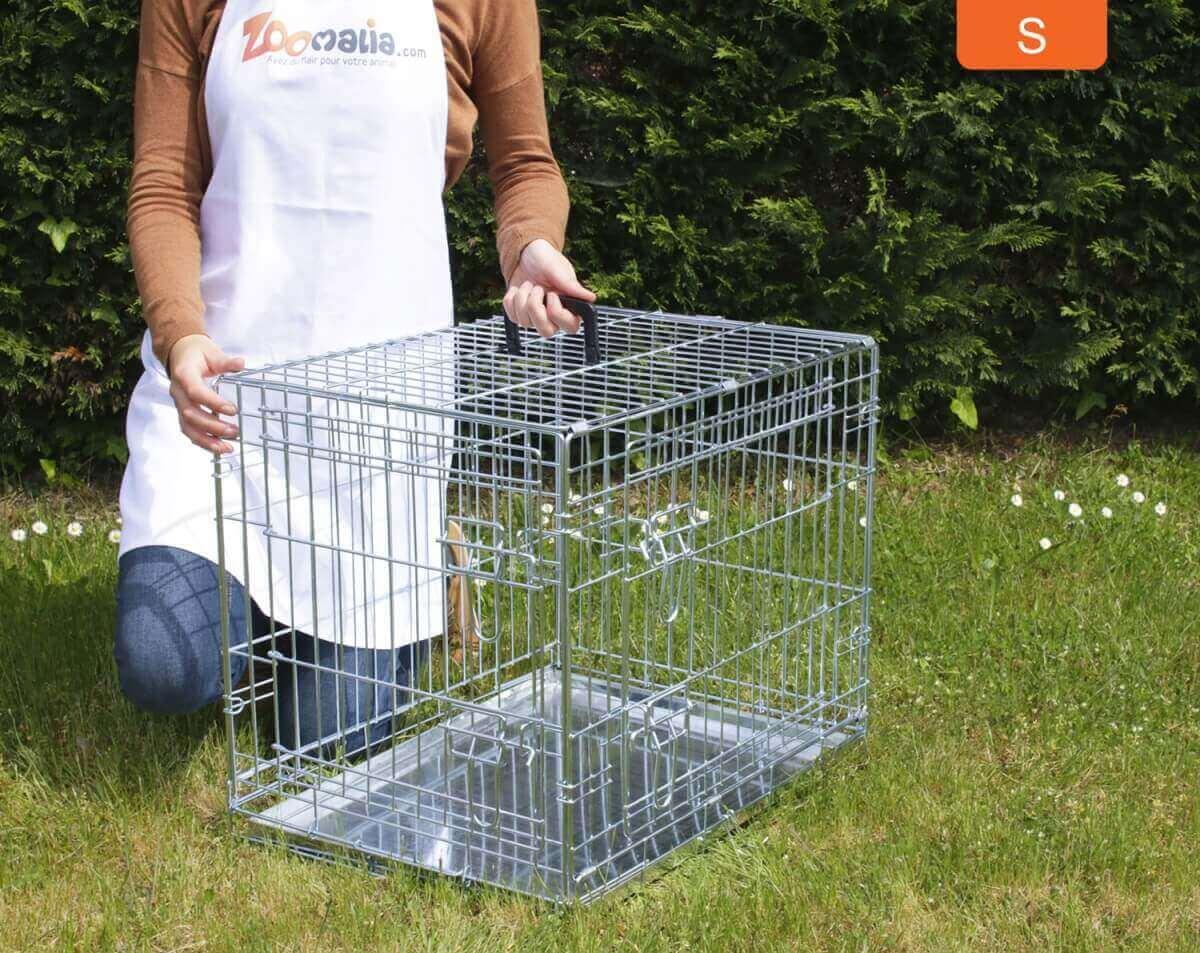 Cage de transport pour chien ZOLIA XENA avec fond en métal_4