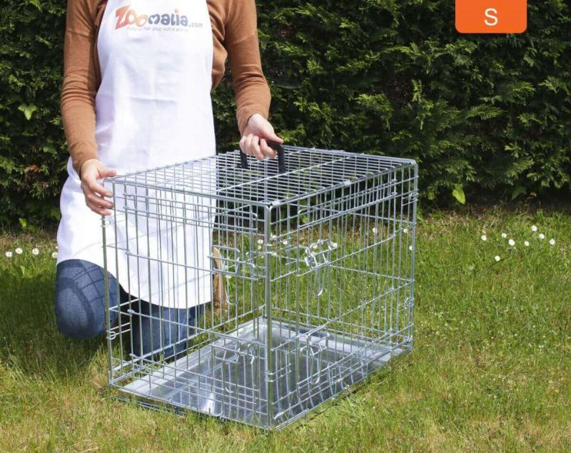 Cage de transport pour chien ZOLIA XENA Double porte avec fond en métal
