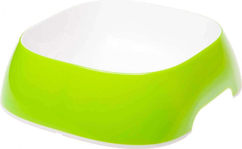 Gamelle GLAM plastique verte pour chien et chat