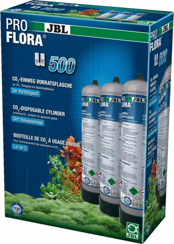 JBL ProFlora u500 Bouteille CO2 500g jetable