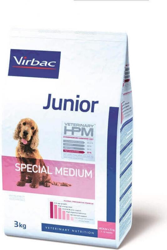 VIRBAC Veterinary HPM JUNIOR Special Medium pour chiot de taille moyenne
