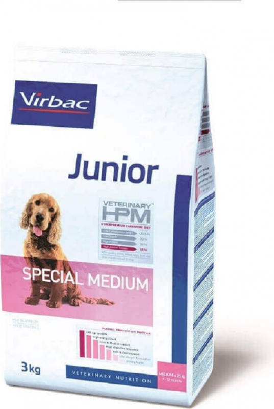 VIRBAC Veterinary HPM JUNIOR Special Medium pour chiot de taille moyenne