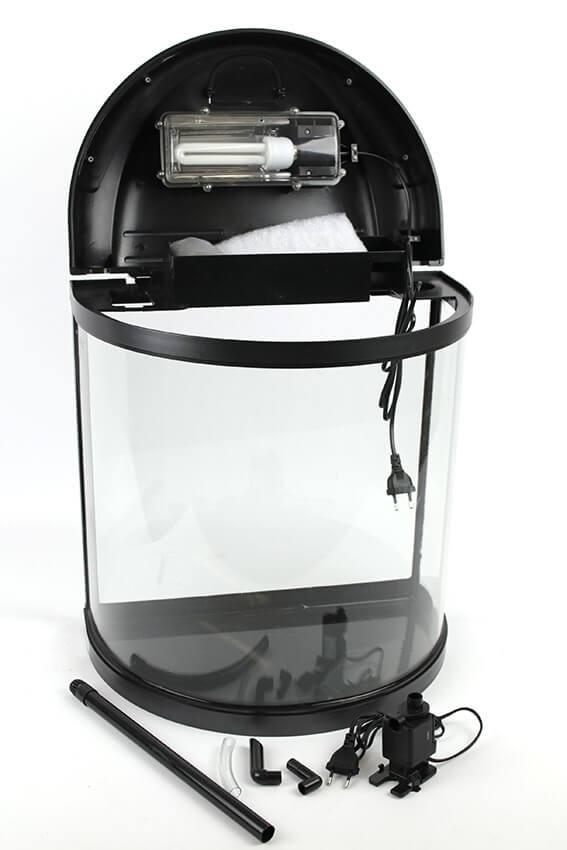 fully equipped Half Moon Aquarium LITTLEMOON 39L_4