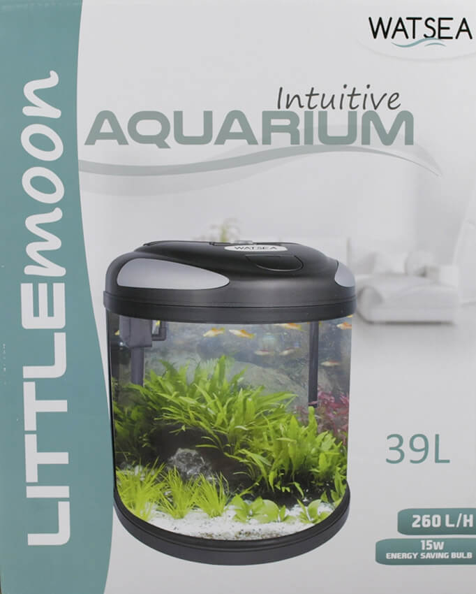 fully equipped Half Moon Aquarium LITTLEMOON 39L_6