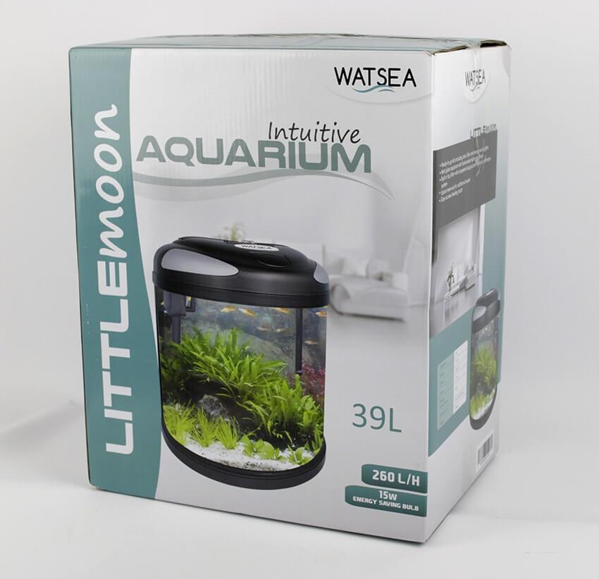 fully equipped Half Moon Aquarium LITTLEMOON 39L_5