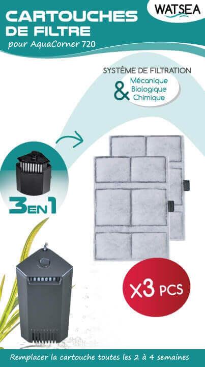 Cartouches de rechange pour filtre Aqua Corner 720 (X3)_1