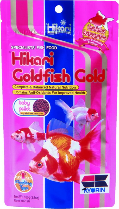 Nourriture poissons d'eau froide HIKARI - GOLD GOLDFISH BABY 100G