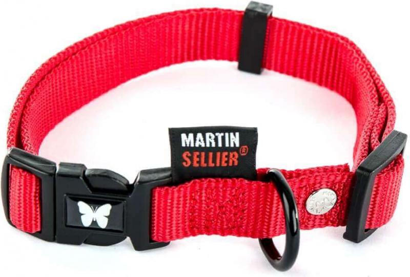 Collier nylon réglable rouge