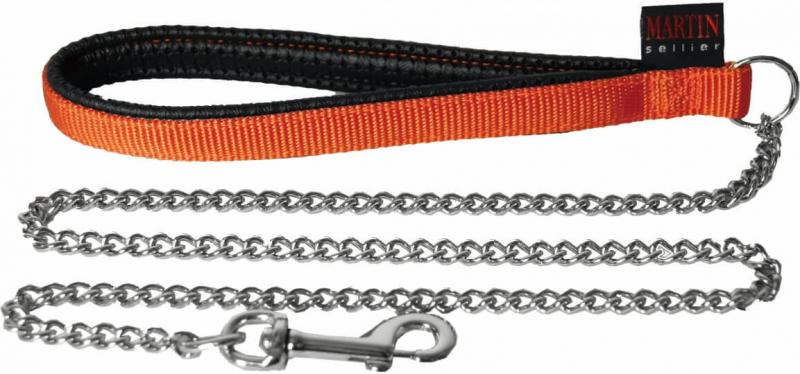 Laisse chaîne orange