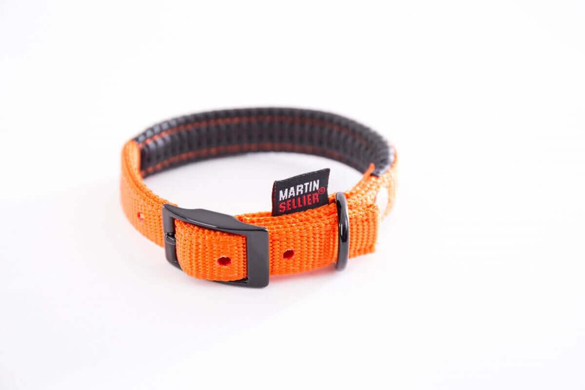 collier droit confort nylon orange collier chien. Black Bedroom Furniture Sets. Home Design Ideas