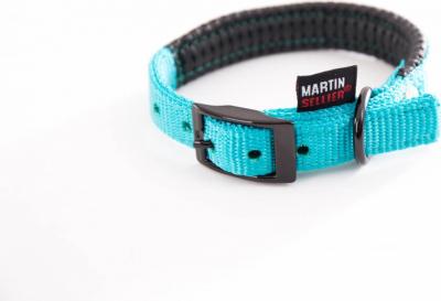 Collier droit confort nylon turquoise
