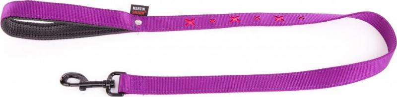 Laisse croix violet