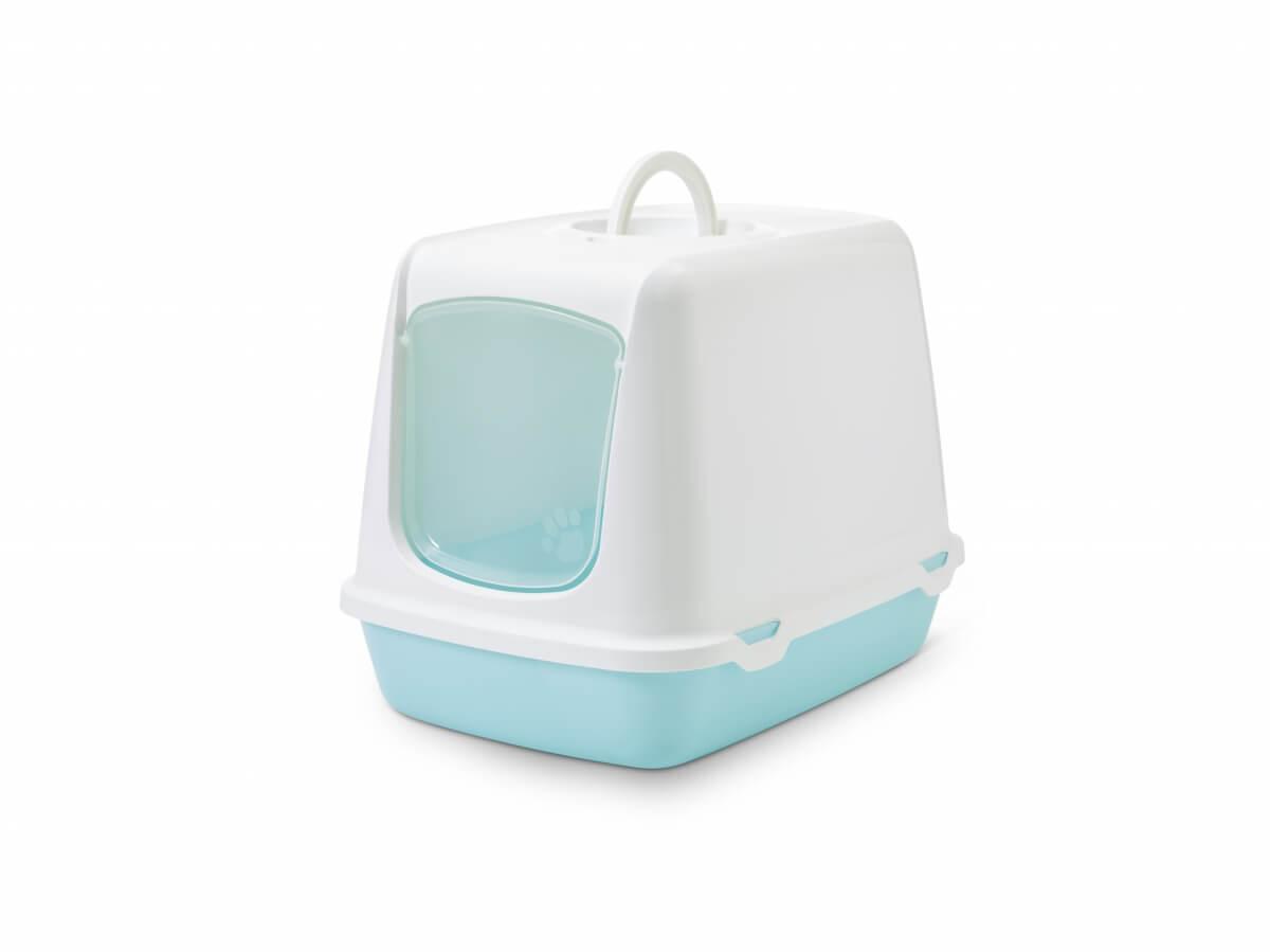 Maison de toilette oscar retro bleu pastel bac et maison - Toilette retro ...