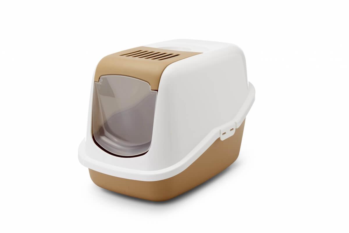 Maison de toilette nestor retro caramel pour chat bac et for Toilette chimique pour maison