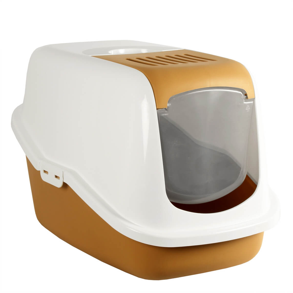 Maison de toilette nestor retro caramel pour chat bac et - Toilette retro ...