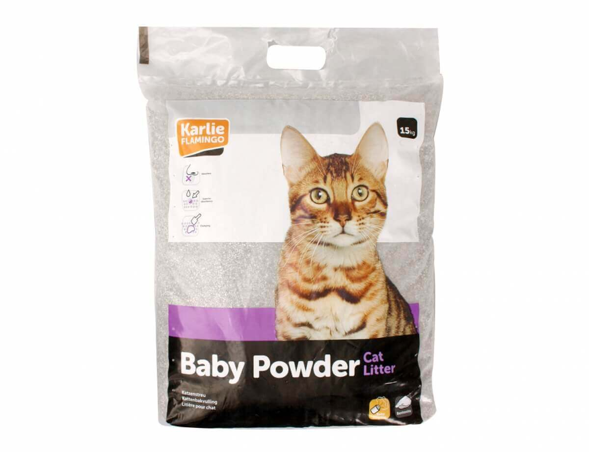 litiere chat baby powder