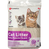 Litière chat agglomérante Baby powder 15kg