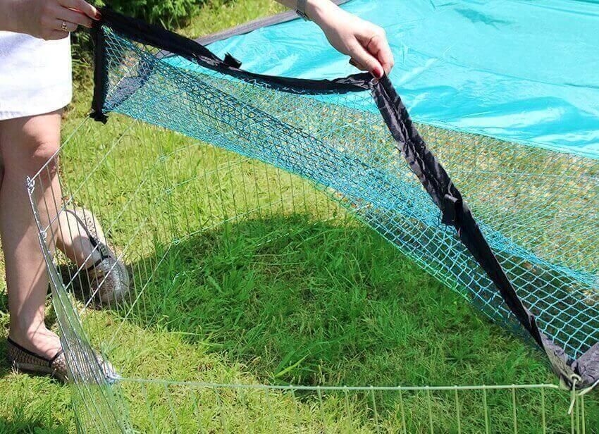 Parc d'extérieur ZOLIA OPI en métal pour petits rongeurs et lapins_3