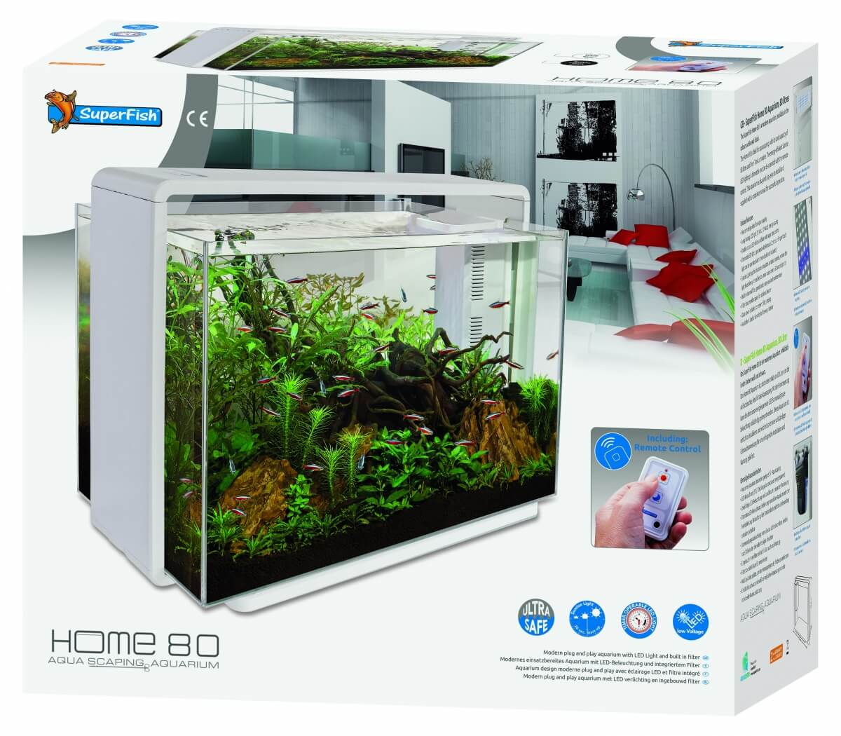 Aquarium  Superfish Home 80 blanc ou noir_3