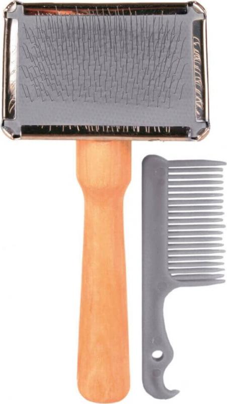 Metallbürste mit Reinigungskamm