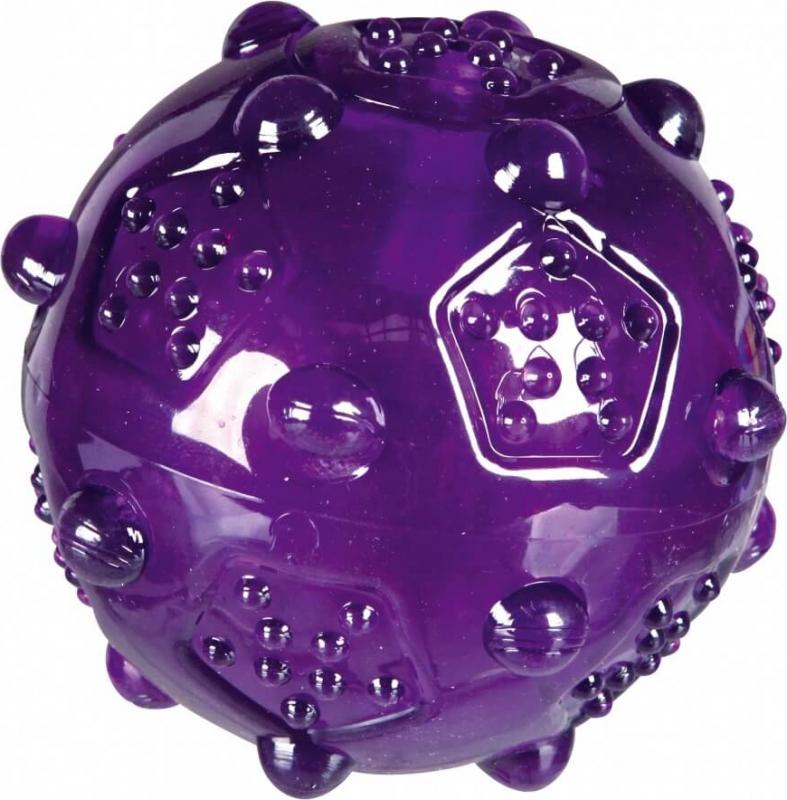 Balle pour chien translucide colorée TPR