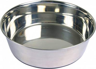 Ecuelle en acier inox avec base antidérapante
