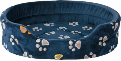 Lit chien Jimmy bleu motif empreintes