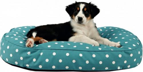 kissen kiro in blau mit wei en punkten kissen matten und teppiche. Black Bedroom Furniture Sets. Home Design Ideas