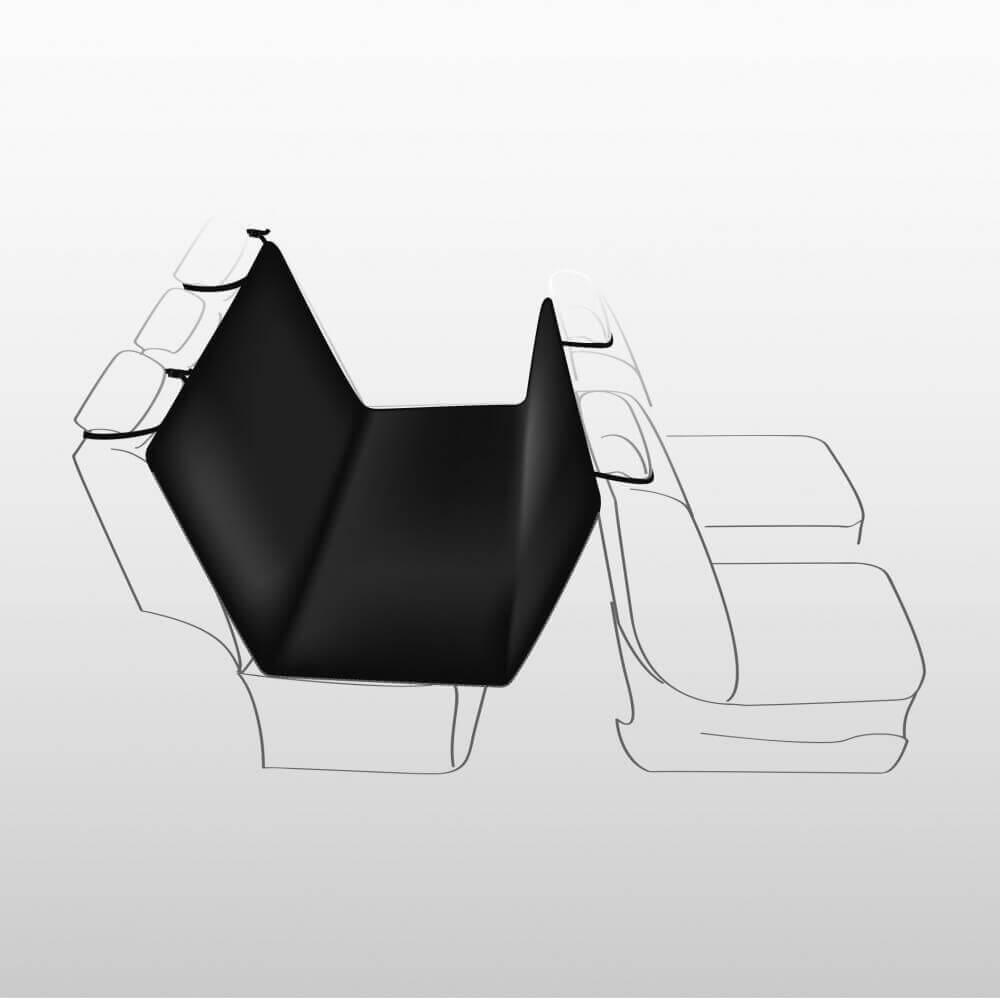 couverture pour si ges de voiture noir motif empreintes accessoires voiture chien. Black Bedroom Furniture Sets. Home Design Ideas