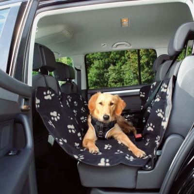 Manta para asientos de coche negro con motivos de huellas
