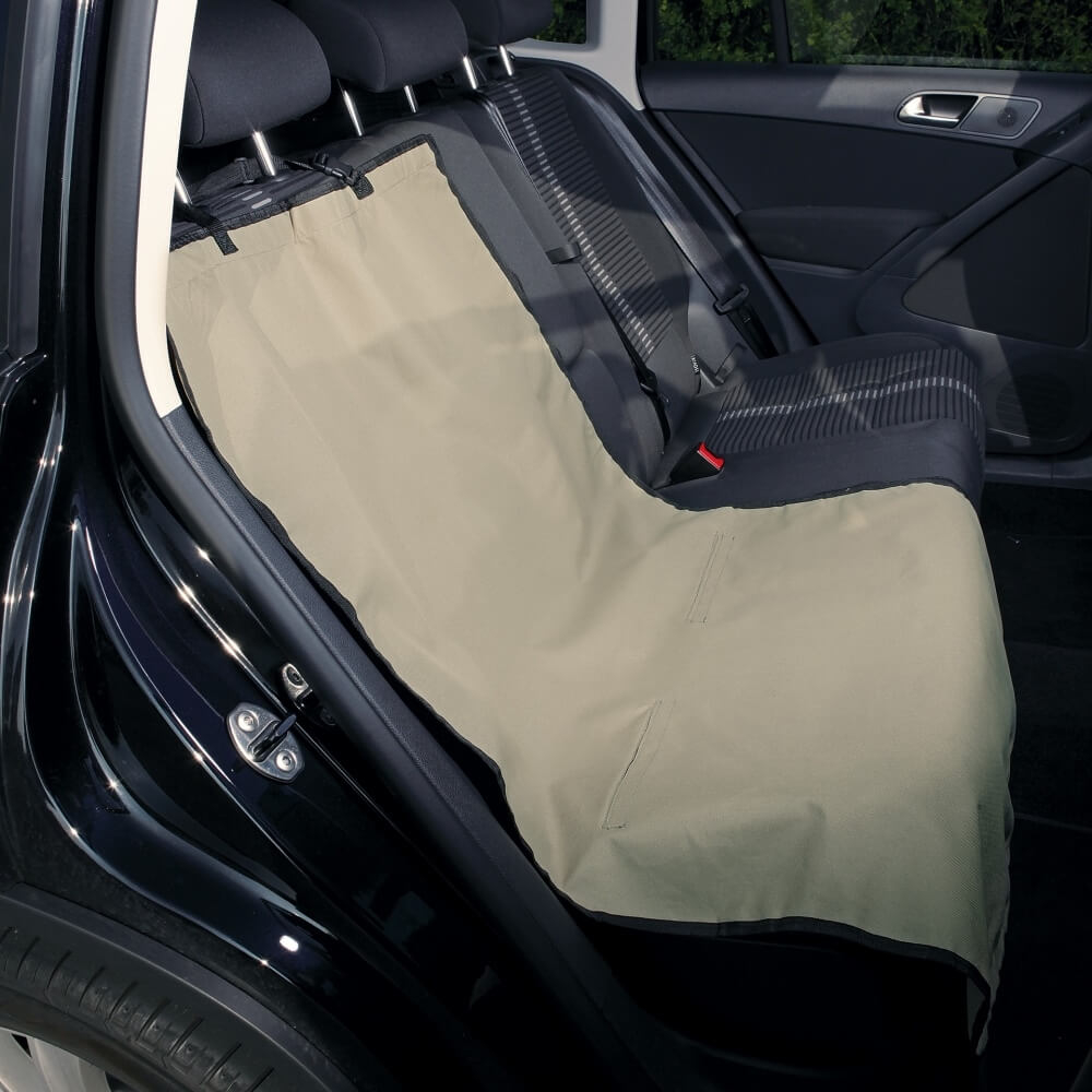 couverture pour banquette arri re de voiture beige accessoires voiture chien. Black Bedroom Furniture Sets. Home Design Ideas