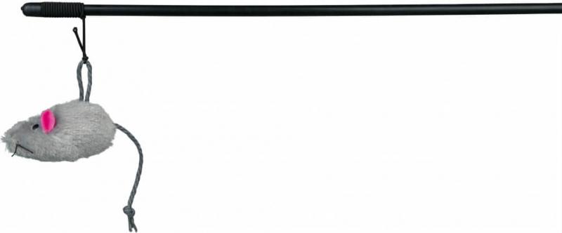 Canna da pesca con topo peluche 100cm